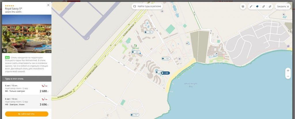 Краткое описание, рейтинг, фотографии отелей на карте